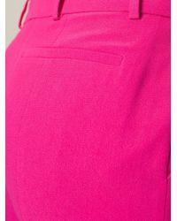 Alexander McQueen - Pink Bootcut Trousers - Lyst