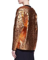 3.1 Phillip Lim - Blue Crackled Metallic Cutaway Sweatshirt - Lyst