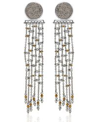 Lucia Odescalchi - Metallic Drusy Pizzicato Earrings - Lyst