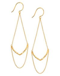 Gorjana | Metallic 'amanda' Drop Earrings | Lyst