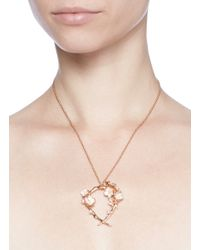 Shaun Leane | Metallic Branch Hoop Pendant Diamond And Cultured Pearl Necklace | Lyst