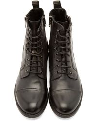 DIESEL | Black Leather Zd-kallien Boots for Men | Lyst