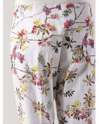 Giambattista Valli - White Floral Print Trousers - Lyst