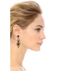 Elizabeth Cole - Black Courtland Earrings  Jet Fleck - Lyst