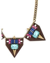 BaubleBar - Multicolor Penta Wooded Collar - Lyst