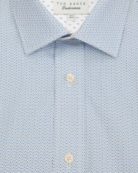 Ted Baker - Blue Fine Geo Print Shirt for Men - Lyst