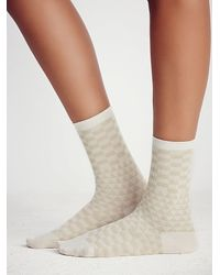 Free People - Natural Hansel From Basel Womens Uptowner Crew Sock - Lyst