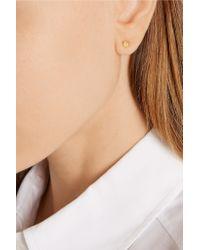 Eddie Borgo - Metallic Mini Gold-plated Cubic Zirconia Cone Earrings - Lyst
