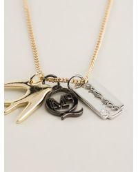 McQ | Metallic Charm Pendant Necklace | Lyst