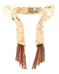 Eshvi | Metallic 'Braid 23' Bracelet | Lyst
