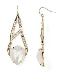 Alexis Bittar | Metallic Miss Havisham Geometric Mother-of-pearl Drop Earrings | Lyst