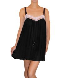 Flora Nikrooz | Black All I Need Chiffon Babydoll | Lyst