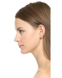 Jacquie Aiche - Red Round Earring - Ruby/Clear - Lyst