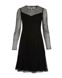 Rag & Bone | Black Sheer Polka Dot Charlotte Dress | Lyst