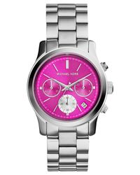 Michael Kors - Metallic Women'S Chronograph Runway Stainless Steel Bracelet Watch 38Mm Mk6160 - Lyst