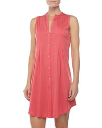 Hanro - Sleeveless Shirtwaist Nightgown Pink - Lyst