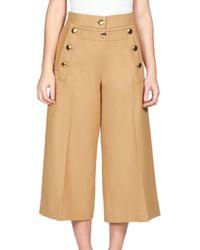 Sacai | Beige Luck Sailor Culotte Pants | Lyst