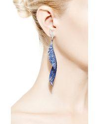 Gioia - Blue Titanium, Sapphire And Diamond Drop Earrings - Lyst