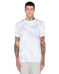 Stampd | Blue White Wash Printed Tee for Men | Lyst