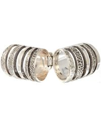 Pamela Love - Metallic Silver Double Cage Ring - Lyst