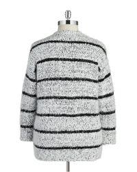Calvin Klein - Gray Plus Open-front Eyelash Knit Sweater - Lyst