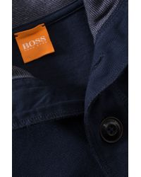 BOSS Orange - Blue Fashion Fit Cotton Sweatshirt 'whoosh 1' for Men - Lyst