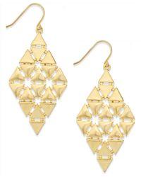 Lauren by Ralph Lauren - Metallic Gold-Tone Triangle Chandelier Earrings - Lyst