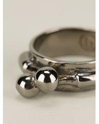 MM6 by Maison Martin Margiela - Metallic Clasp Front Ring - Lyst
