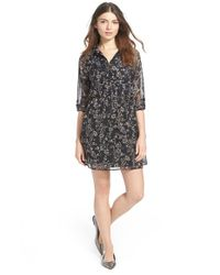 Mimi Chica | Black Floral Print Shirtdress | Lyst