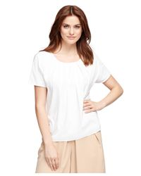 Brooks Brothers - White Silk And Cotton Blend Tee - Lyst