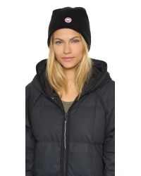 Canada Goose | Black Merino Wool Beanie - Graphite | Lyst