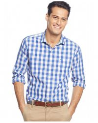 Tommy Bahama | Blue Paradise Island Gingham Shirt for Men | Lyst