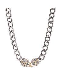 Alexis Bittar - Metallic Curb Chain Padlock Necklace - Lyst