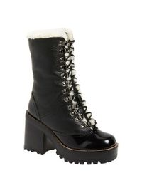 Jeffrey Campbell - Black Big Sur Lace-Up Mid-Calf Boots - Lyst