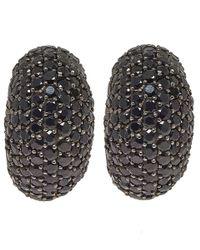 M.c.l | Black Sapphire Pave Earrings | Lyst