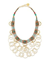 Devon Leigh - Blue Turquoise Beaded Chain Necklace - Lyst