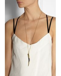 Maiyet - Metallic Goldplated Horn Necklace - Lyst