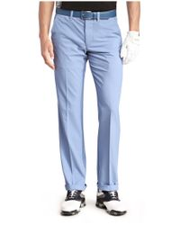 BOSS Green | Blue 'hakan' | Slim Fit, Coolmax Performance Golf Pants for Men | Lyst
