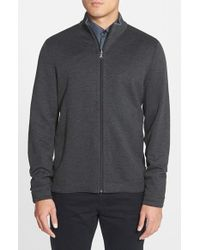 BOSS - Black 'fossa' Regular Fit Full Zip Reversible Sweatshirt for Men - Lyst