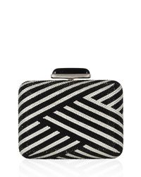 Judith Leiber Couture - Metallic Striped Slim Crystal Clutch Bag - Lyst