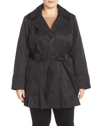 Via Spiga - Black 'scarpa' Single Breasted Hooded Trench Coat - Lyst