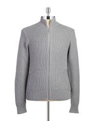 Michael Kors - Gray Zip-Front Sweater for Men - Lyst