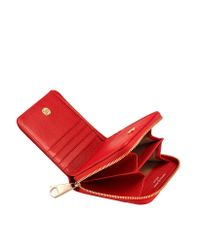 Aspinal - Red Berry Pebble Marylebone Mini Purse - Lyst
