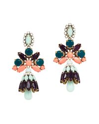 J.Crew - Blue Crystal Shade Earrings - Lyst