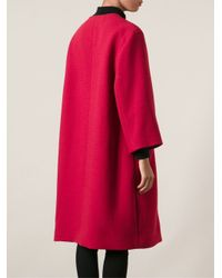 Dolce & Gabbana - Pink Oversized Coat - Lyst