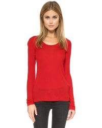 Rag & Bone | Red Elise Long Sleeve Tee | Lyst