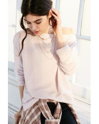 Truly Madly Deeply - Pink Jennie Off-the-shoulder Sweatshirt - Lyst