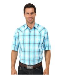 Stetson | Blue Smokey Ombre Plaid Flat Weave W/ Satin for Men | Lyst