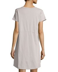 Jethro - Multicolor Short-sleeve High-low Trapeze Dress - Lyst
