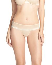 DKNY | Natural 'foundations' Mesh Thong | Lyst